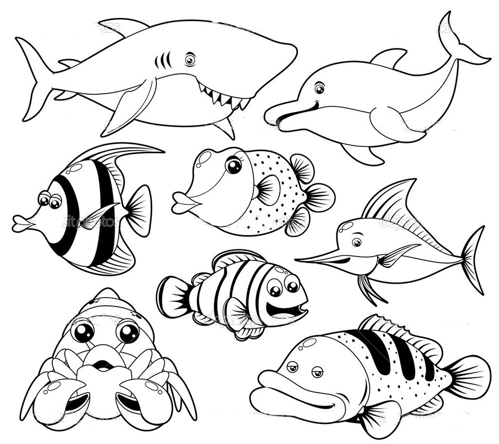 обертывания картинки для раскраски на морскую тему подойдут