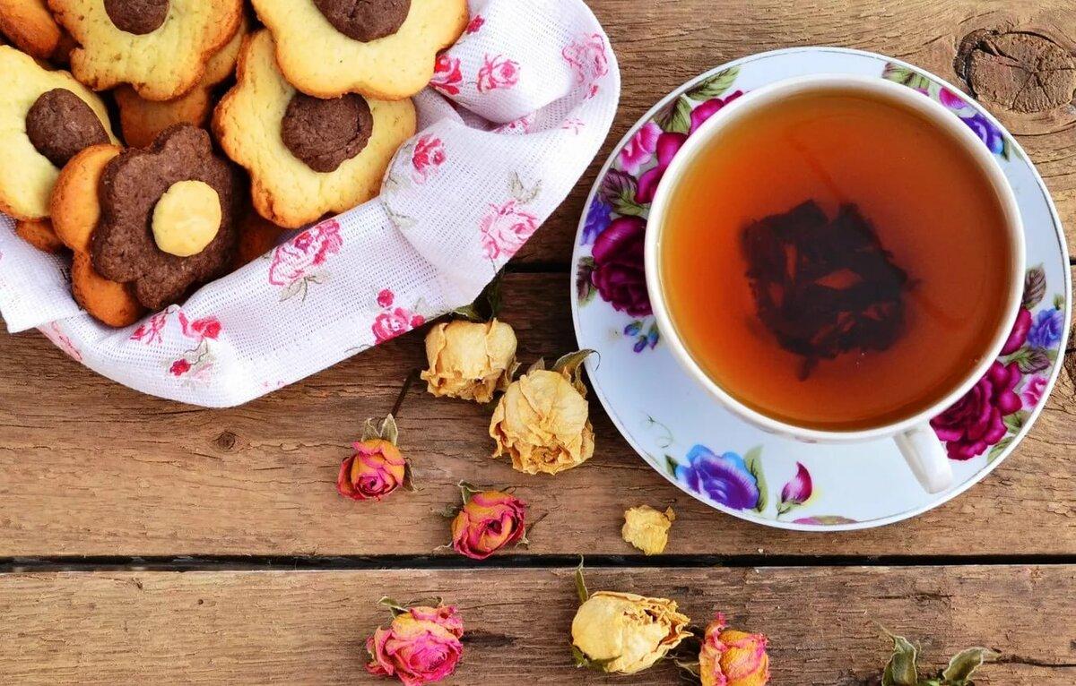 красивая картинка с чаем и печеньки сша хранит себе