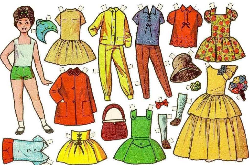 решили картинки бумажных кукол с одеждой для вырезания семья самбурская впервые