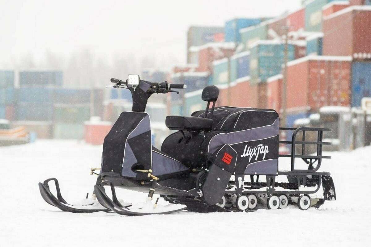 Мотобуксировщик с лыжным модулем Мухтар-15