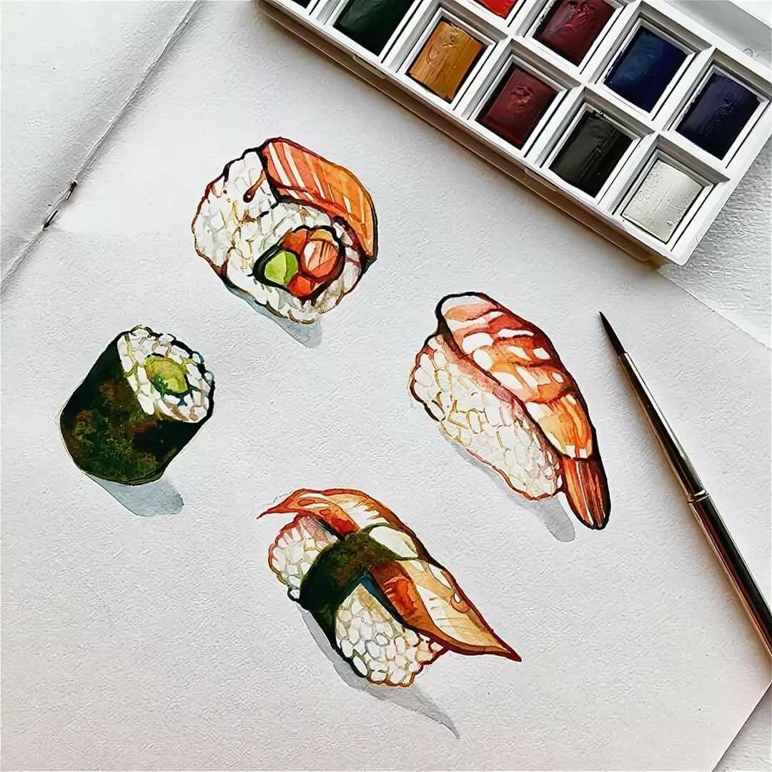 суши рисунки красками зачем