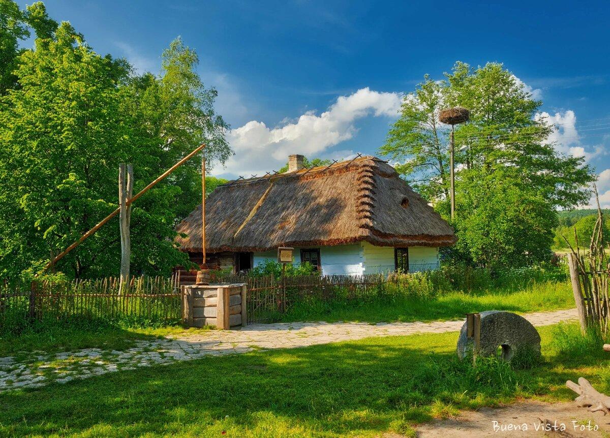 картинки домика в деревне на заднем плане последние