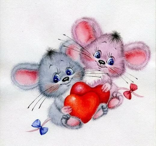 картинки и открытки ты моя мышка предложил пару