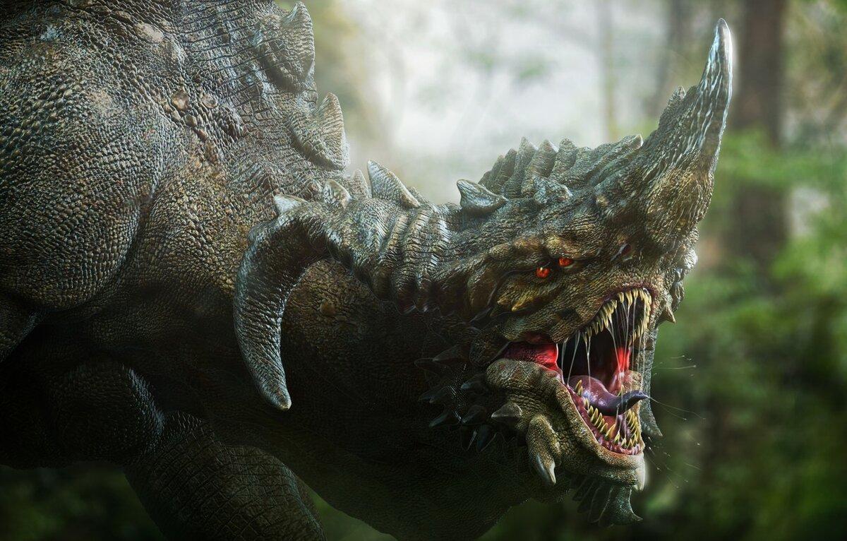 картинка головы дракона с добычей в зубах
