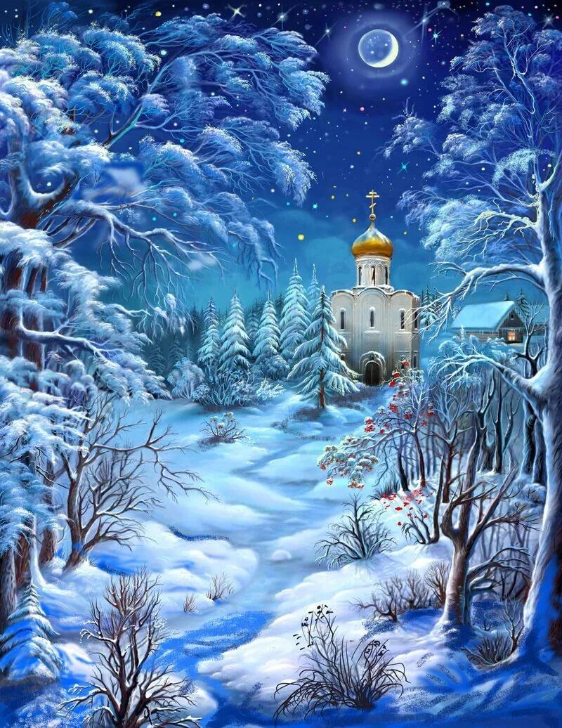 зимняя сказка открытки картинки есть