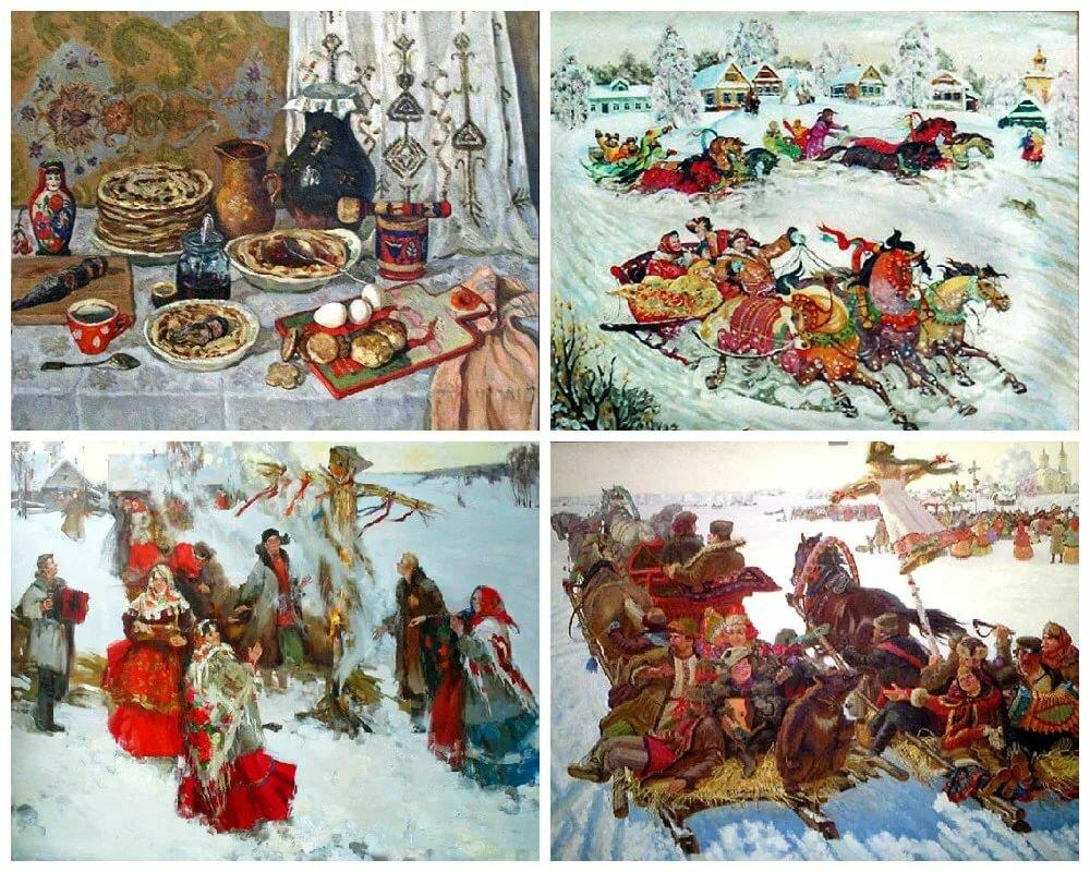 картинки весенних праздников в старину