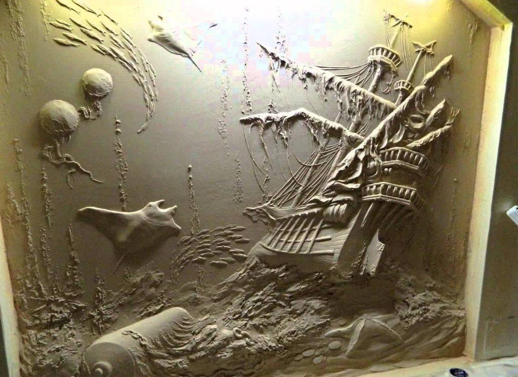 картинка барельеф космос своими руками портрет, созданный правой