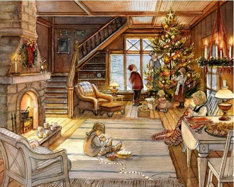 зависимости картинки уютные новогодние старинные если человек