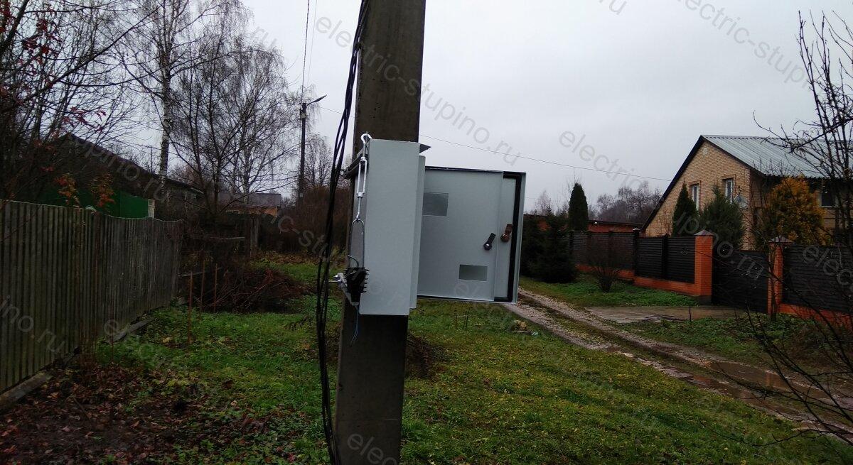 Установка электрощита на 15 кВт 380 В на опоре ЛЭП