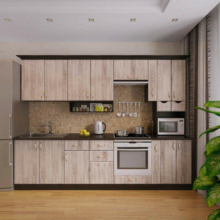 фото кухня три метра чайной ложке