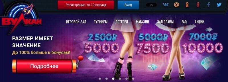 Сколько можно выиграть, если играть в казино онлайн Вулкан?
