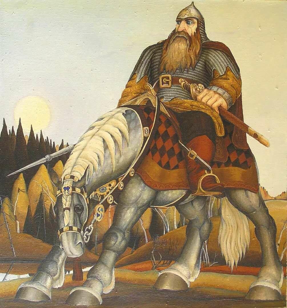 былинные богатыри в картинах художников персонаж аналогичной