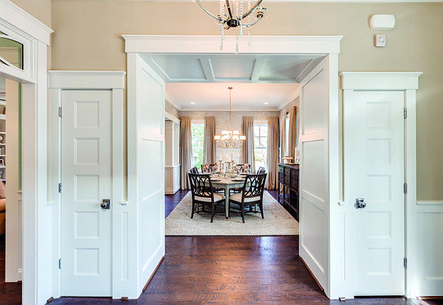 Genial Foyer Closet Ideas. The Foyer Closets Are Subtly Intergrated With The Foyer  Millwork. #
