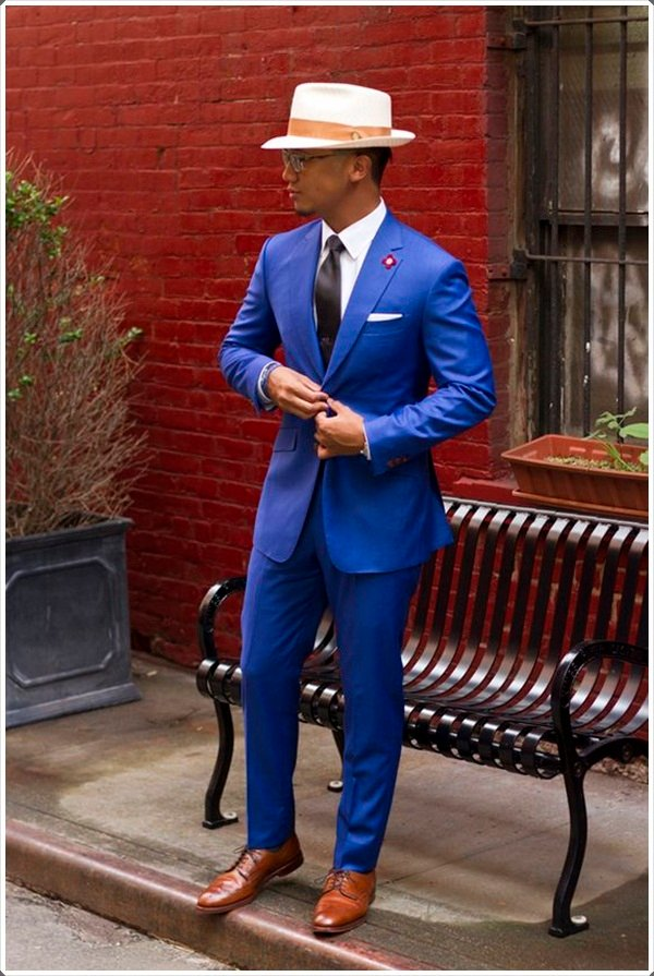 какие туфли под синий костюм мужской этом