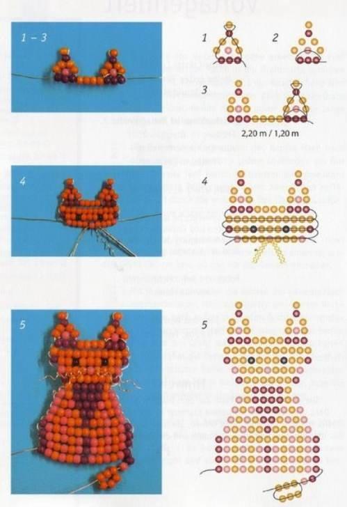 фигуры из бисера схемы в картинках плоды