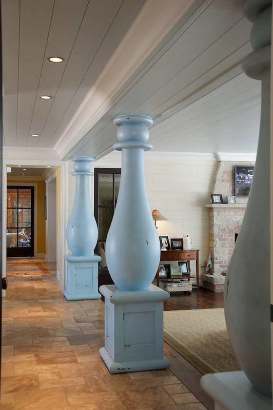 Несущие колонны в интерьере