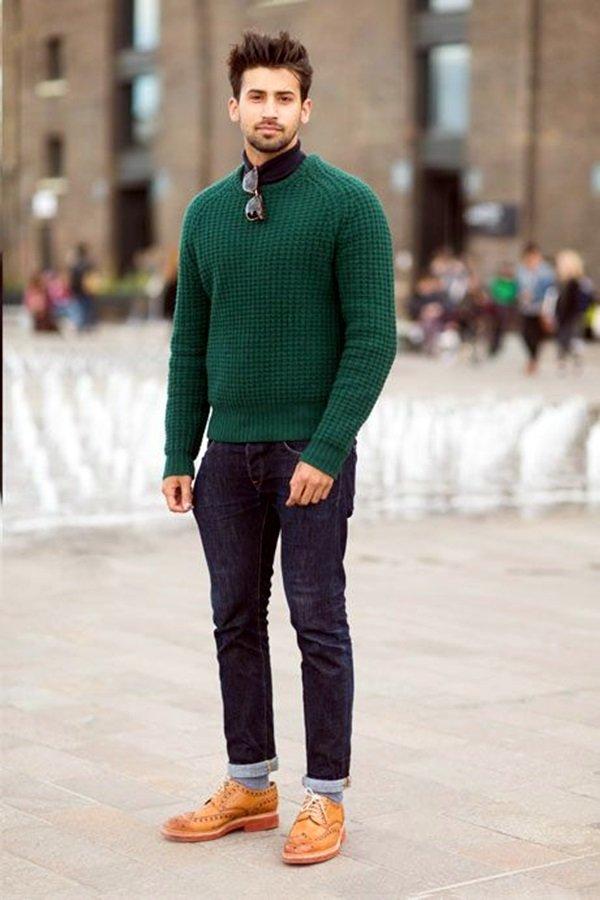 детям 1,5-2 зелёный мужской свитер с чем носить рамках