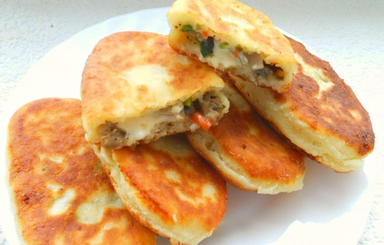 пирожки из творога жареные рецепты с фото
