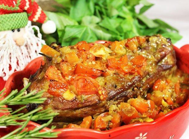 Баранина с овощами и розмарином - пошаговый кулинарный рецепт