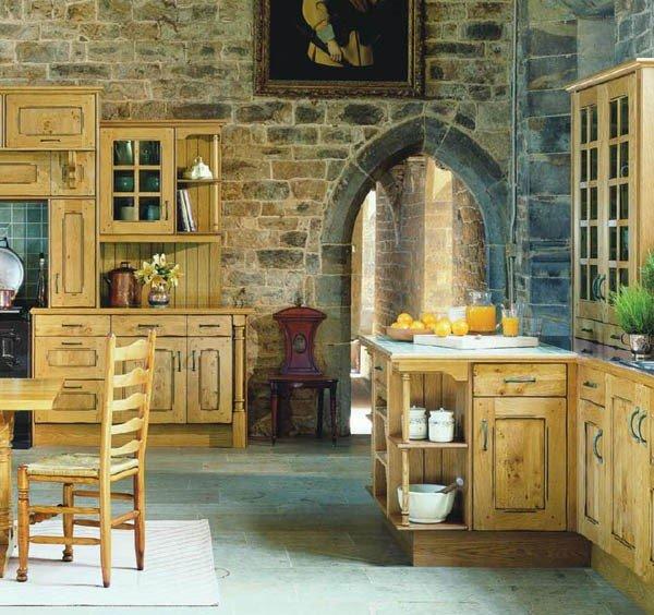Кухня в стиле кантри - замок