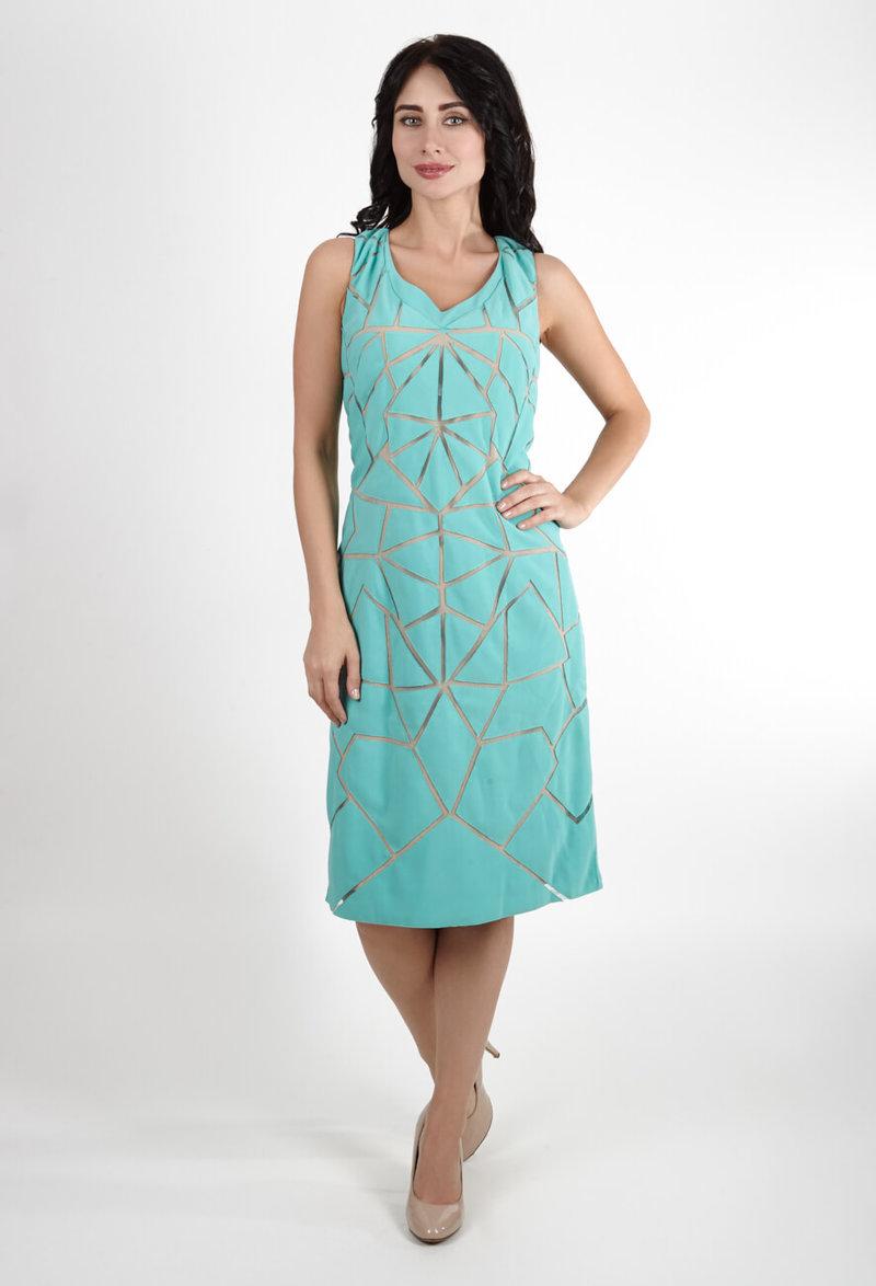 Бирюзовое платье большого размера