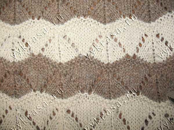 Вязание спицами узор треугольник