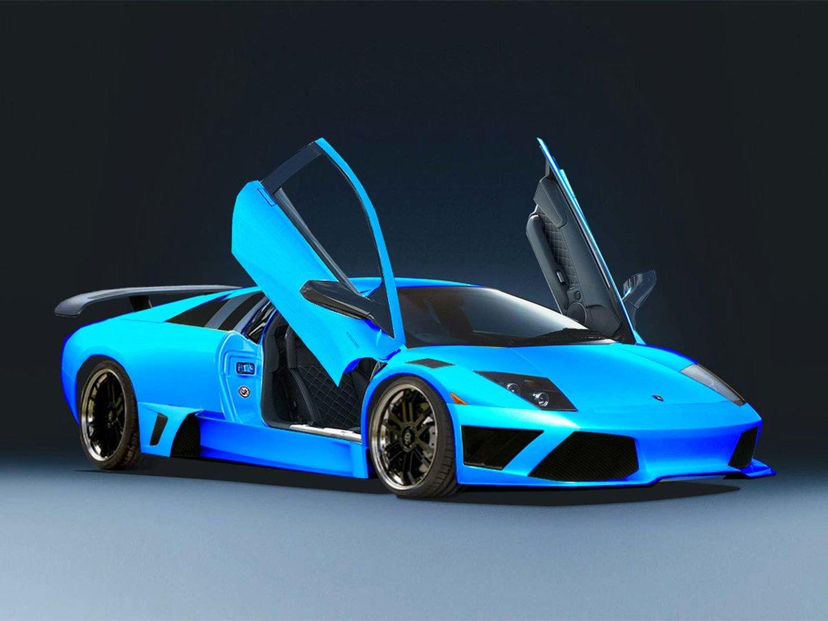 Lamborghini Murcielago Blue Card From User Chehdr In Yandex