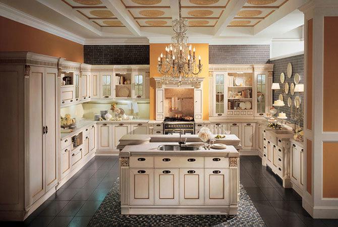 Интерьер кухни в стиле 19 ст