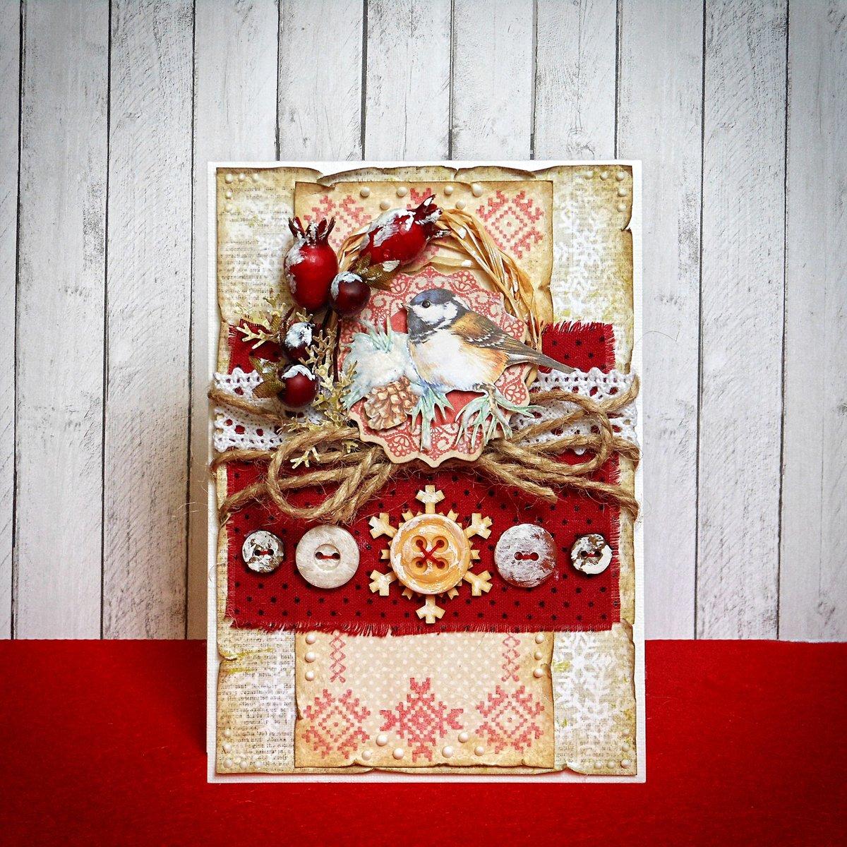 Новогодняя или рождественская открытка, красавчик
