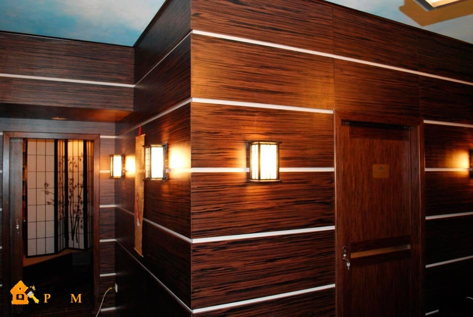 Wooden panels for wall decoration - home decoration.