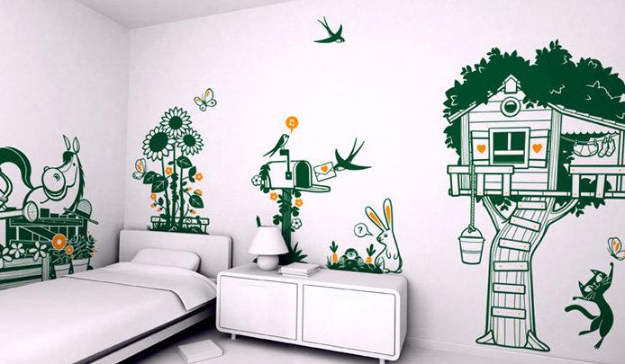 Прикольные рисунки на стенах в детской, международному