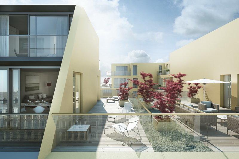 Комплекс LUX расположен между кварталом художников на Августштрассе и знаменитым бульваром Унтер-ден-Линден. Здание комплекса новое, оно не выглядит чем-то изолированным, а является как бы продолжением существующего ландшафта. Фасад LUX со всех сторон открыт для солнечных лучей, а его дизайн гармонирует с расположенным напротив современным парком, который, в свою очередь, является копией близлежащего Тиргартена. Аннете Акстхель и Хеннером Рольвьеном (создатели проекта) использовали необычное сочетание архитектурных элементов и игры света, благодаря чему грань между внутренним и внешним пространством здания оказалась стертой.