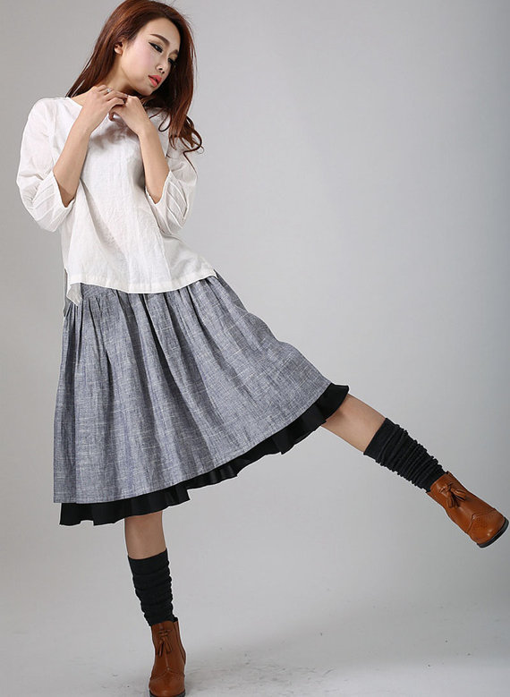 Серая юбка handmade