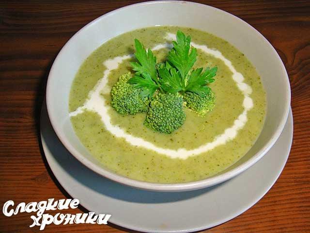 суп пюре из брокколи с сыром и сливками