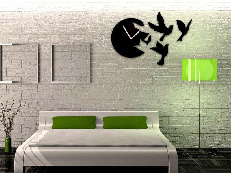 Часы с птицами на стену.