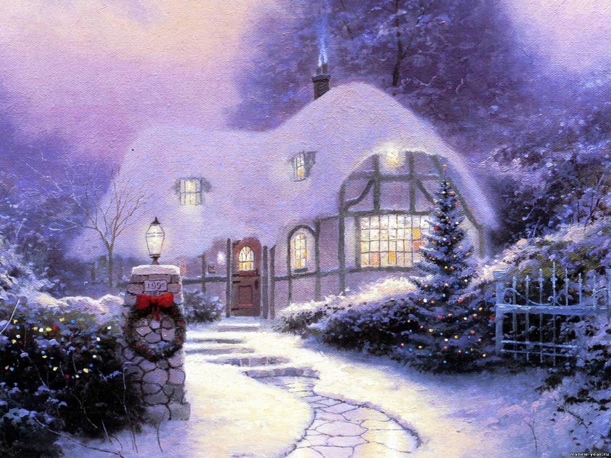 Новогодняя ночь на открытках