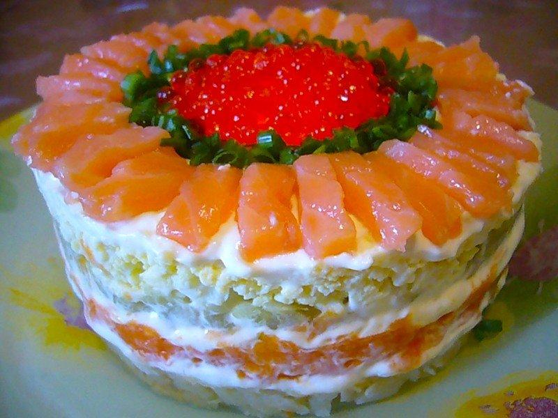 Рецепты салатов слоями с фотографиями