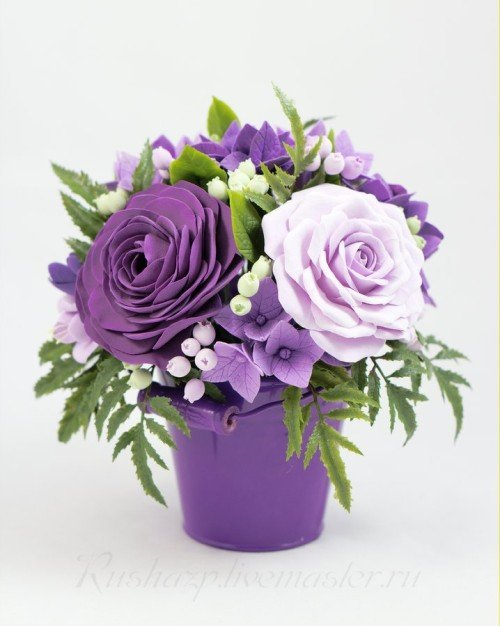 Нежно-фиолетовая композиция