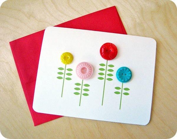 Красивые открытки с днем рождения своими руками с пуговицами, днем