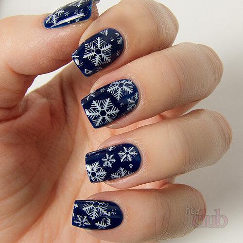 Зимний рисунок на ногтях фото ногтей