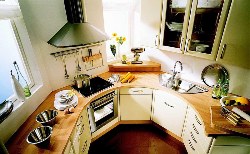 Интерьер малогабаритной кухни — ЗелРемСтрой.