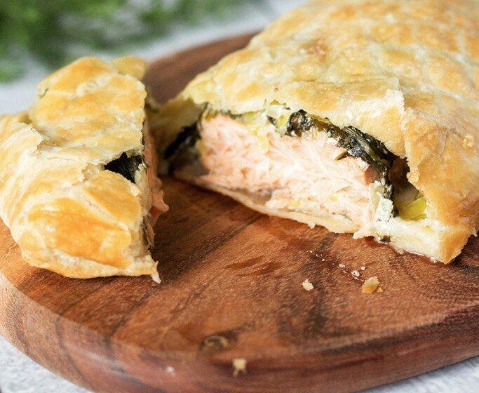 Пирог с лососем, который тает во рту!
