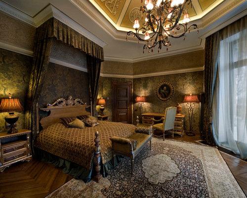 Оформление деревянной кровати в викторианском стиле