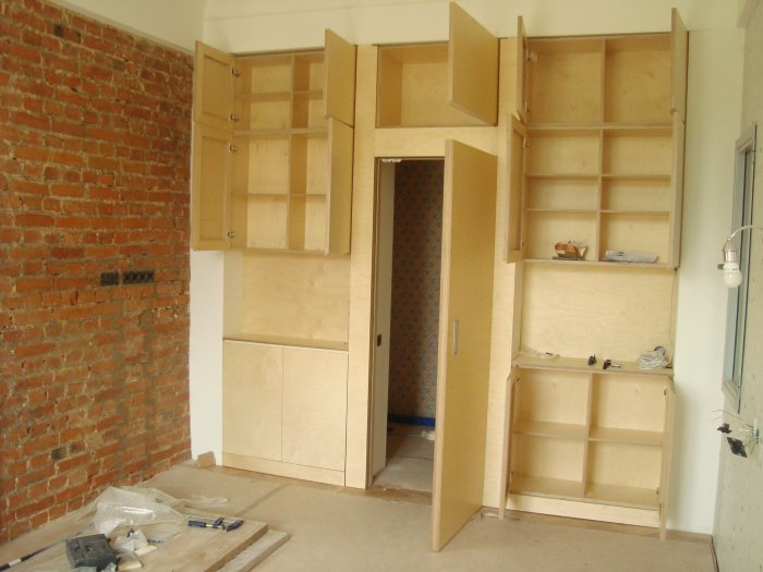How to make the built-in furniture - build daily.