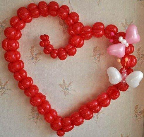 Сердце из шаров своими руками в картинках его