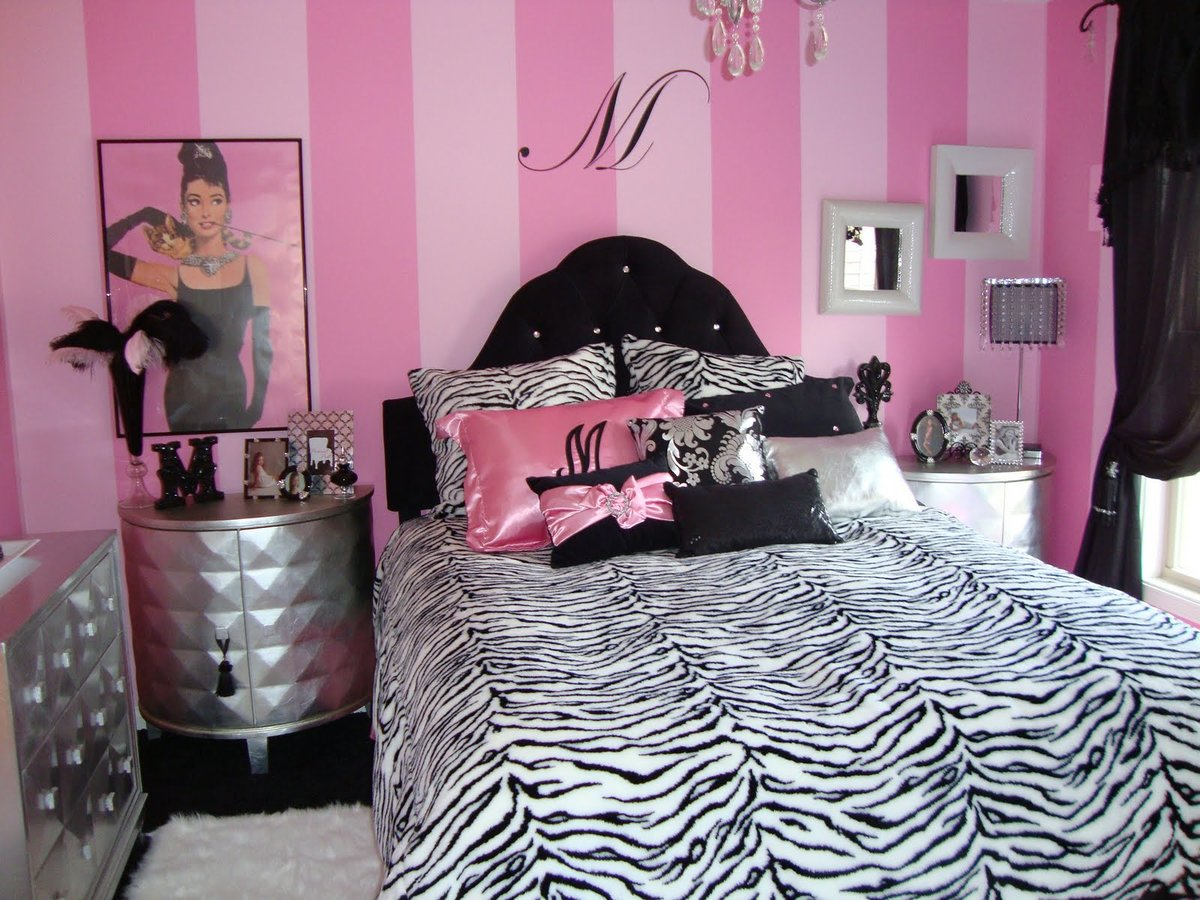 Girls zebra themed teen room ideas — pic 2