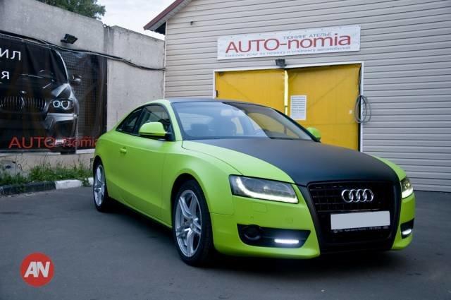 Audi A5. Ярко-зеленый мат. - 11 Июня 2013 - Блог студии - Студия автовинила Auto-nomia