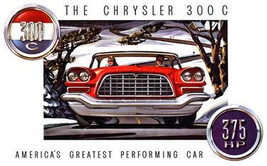 американская реклама 50-х chrysler 300