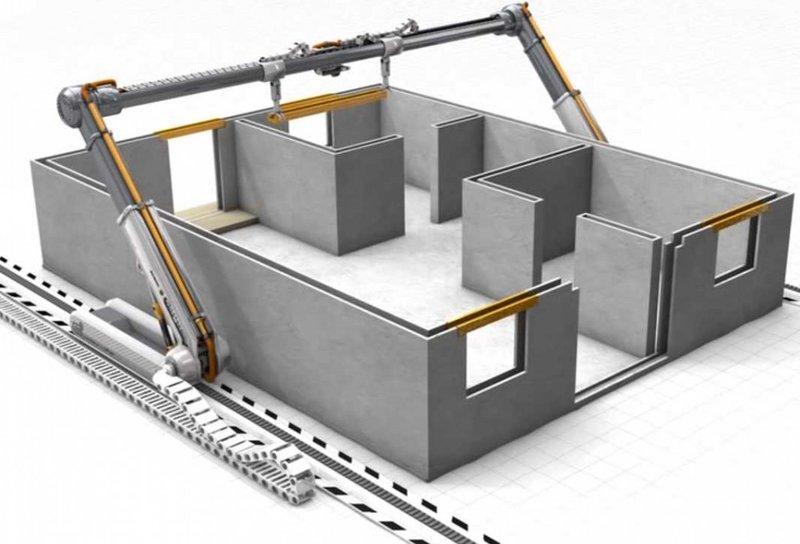 Гигантский 3D принтер строит дом за 24 часа