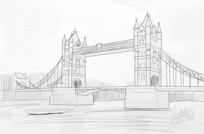 город карандашом картинки